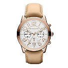 Michael Kors ladies' rose gold-plated strap watch - Product number 1026224