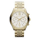 Michael Kors men's white dial gold-plated bracelet watch - Product number 1026321