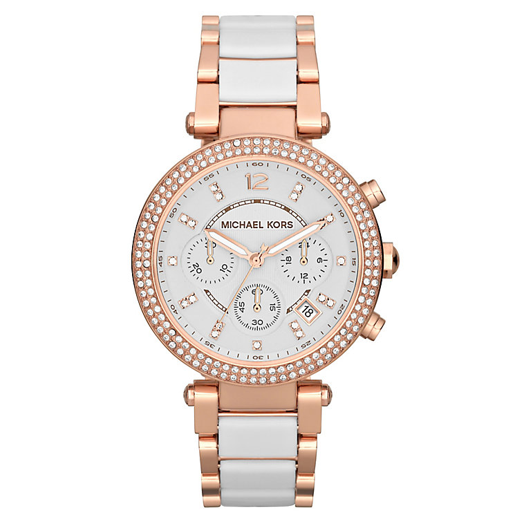 Michael Kors Ladies' Stone Set Two Tone Bracelet Watch - Product number 1026402
