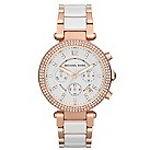 Michael Kors ladies' stone set two tone bracelet watch - Product number 1026402