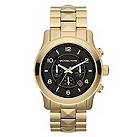 Michael Kors ladies' gold-plated pyramid bracelet watch - Product number 1026437