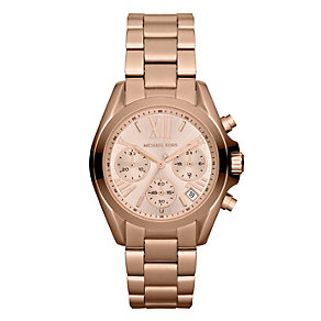 Michael Kors ladies' rose gold-plated bracelet watch - Product number 1026496