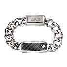 Emporio Armani men's stainless steel & carbon fibre bracelet - Product number 1027239