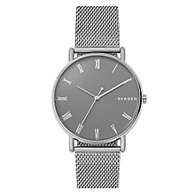 Skagen Signatur Unisex Stainless Steel Mesh Bracelet Watch - Product number 1027794