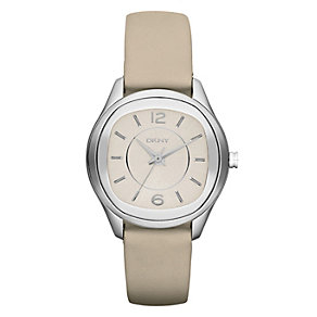 DKNY Ladies' Stainless Steel Nude Leather Strap Watch - Product number 1028405