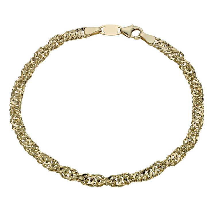 Together Bonded Silver & 9ct Gold Singapore Bracelet - Product number 1029150