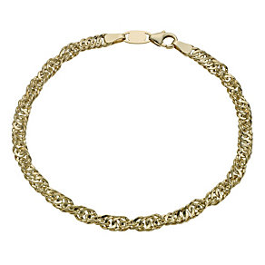 Together Bonded Silver & 9ct Gold Singapore Bracelet - Product number 1029150