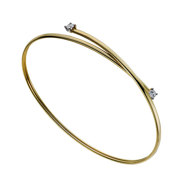 Together Bonded Silver & 9ct Gold Flexi Bangle - Product number 1029177