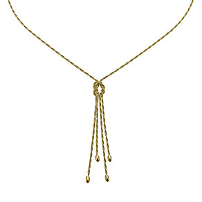 Together Bonded Silver & 9ct Gold Lariat Knot Necklace - Product number 1029207