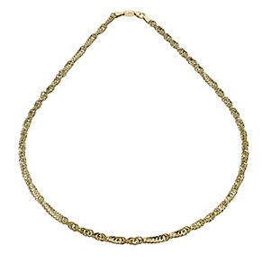 Together Bonded Silver & 9ct Gold Large Singapore Necklace - Product number 1029266