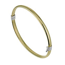 Together Bonded Sterling Silver & 9ct Yellow Gold Bangle - Product number 1029282