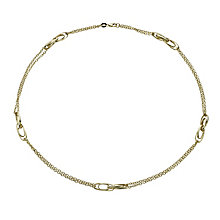 Together Bonded Silver & 9ct Gold Double Strand Bracelet - Product number 1029339