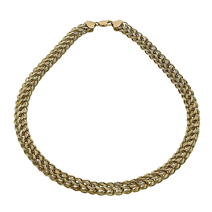 Together Bonded Silver & 9ct Gold Fancy Collar - Product number 1029436