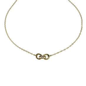 Together Bonded Silver & 9ct Gold Three Link Necklace - Product number 1029487