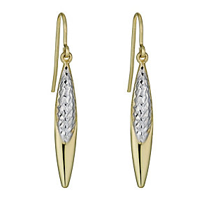 Together Bonded Silver & 9ct Gold Two Colour Oval Earrings - Product number 1031236