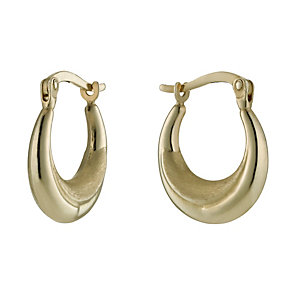 Together Bonded Silver & 9ct Gold Creole Hoop Earrings - Product number 1031287