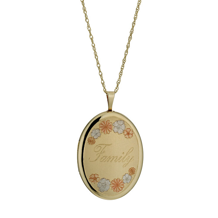 Together Bonded Silver & 9ct Gold 18 Family Locket
