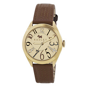 Radley Ladies' Digital Tan Leather Strap Watch - Product number 1032380