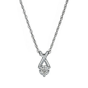 Silver Illusion 1/10 Carat Diamond Pendant Necklace - Product number 1034464