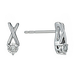 Silver Illusion Diamond Earrings - Product number 1034472