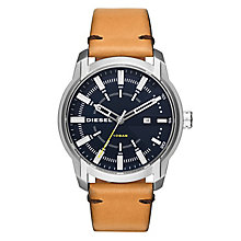 Diesel Armbar Men's Brown Leather Strap Watch - Product number 1034553