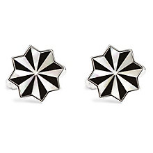 Simon Carter rotary onyx & mother of pearl cufflinks - Product number 1036467