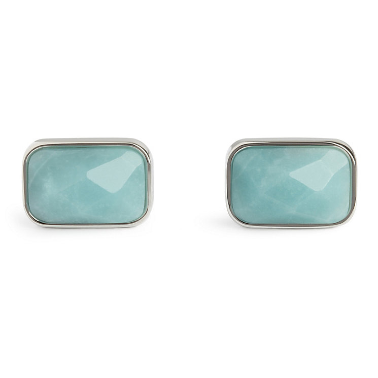 Simon Carter faceted amazonite rectangle cufflinks - Product number 1036475