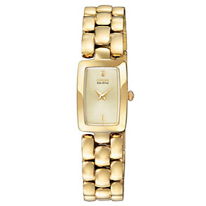 Citizen Eco-Drive ladies' gold-plated bracelet watch - Product number 1036513