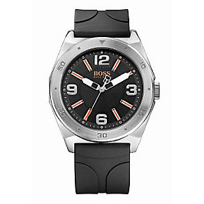Hugo Boss Orange Men's Stainless Steel Black Strap Watch - Product number 1036963