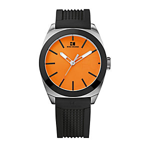 Boss Orange Men's Stainless Steel Black Rubber Strap Watch - Product number 1037048