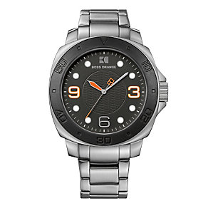 Boss Orange Men's Black Dial Stainless Steel Bracelet Watch - Product number 1037099