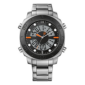 Boss Orange Men's Black Dial Stainless Steel Bracelet Watch - Product number 1037102