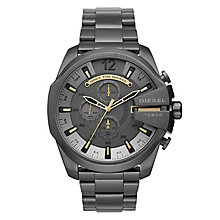 Diesel Mega Chief Men's Black Stainless Steel Bracelet Watch - Product number 1038214