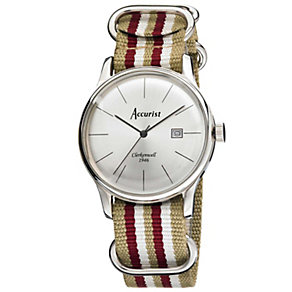 Accurist Men's Silver Dial Gold Tone Strap Watch - Product number 1039806