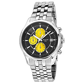 Accurist Men's Black Dial Stainless Steel Bracelet Watch - Product number 1039822