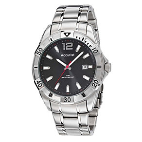 Accurist Men's Black Dial Stainless Steel Bracelet Watch - Product number 1039938