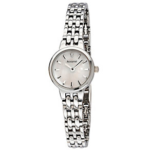 Accurist Ladies' Mother of Pearl Dial Steel Bracelet Watch - Product number 1039962