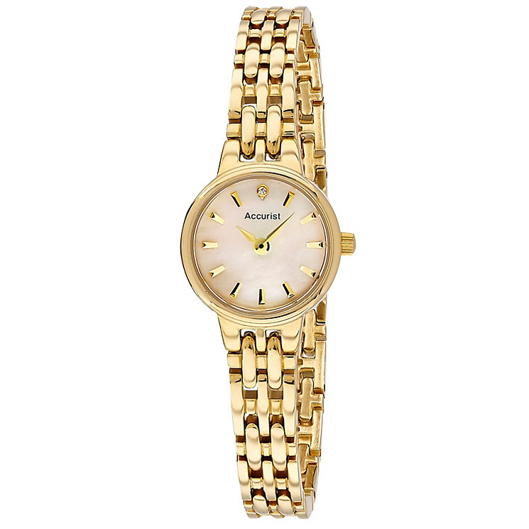 Accurist Ladies' Mother Of Pearl Gold Tone Bracelet Watch ...