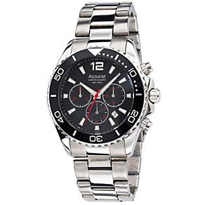 Accurist Men's Black Dial Stainless Steel Bracelet Watch - Product number 1040006