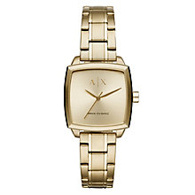 Armani Exchange Nicolette Square Ladies' Gold Plated Watch - Product number 1040650