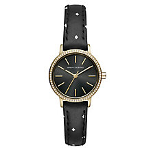 Armani Exchange Lola Ladies' Black Leather Strap Watch - Product number 1040669