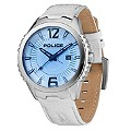 Police Men's Blue Lens White Leather Strap Watch - Product number 1046233