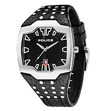 Police Men's Black Dial Leather Strap Watch - Product number 1046241