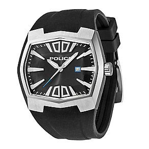 Police Men's Black Rubber Strap Watch - Product number 1046276