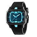 Police Men's Blue Lens Black Silicone Strap Watch - Product number 1046292