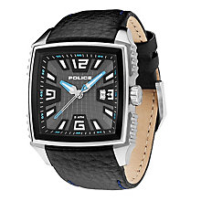 Police Men's Gunmetal Dial Black Leather Strap Watch - Product number 1046306