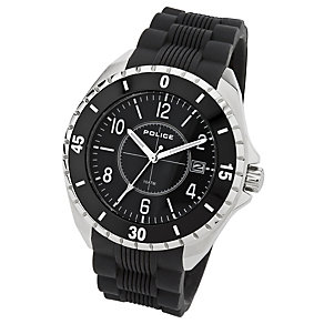 Police Miami men's stainless steel black PU strap watch - Product number 1046314