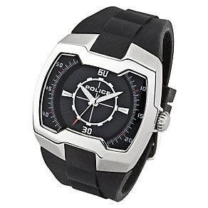 Police Endeavor stainless black PU strap watch - Product number 1046349