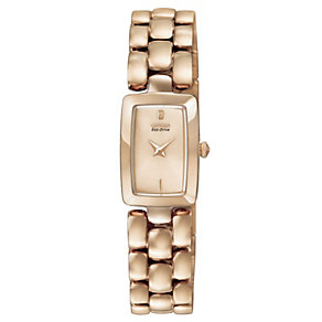 Citizen Eco-Drive Ladies' Rose Gold Tone Bracelet Watch - Product number 1047337