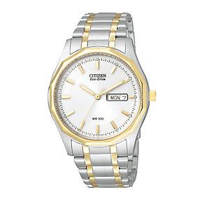 Citizen Eco-Drive Men's Two Tone Bracelet Watch - Product number 1047353